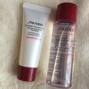 Shiseido travel size cleansing cream & softener